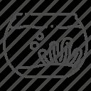 bowl, bubble, fish, glass, seaweed, tank, water icon