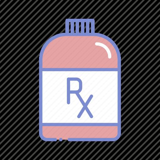 bottle, chemistry, drugstore, medicine bottle, pharmaceutical, pharmacist, prescription icon