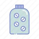 bottle, drugstore, medication, pharmaceutical, pharmacist, pill bottle, prescription icon