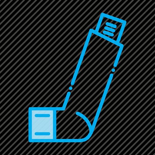 asthma, chemistry, drugstore, inhaler, pharmaceutical, pharmacist, prescription icon