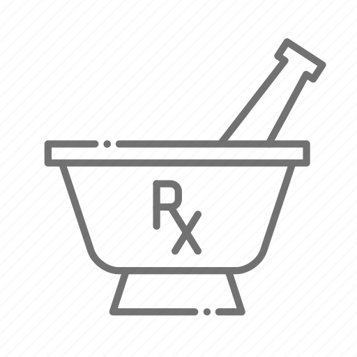 chemistry, drugstore, medicine, mortar and pestle, pharmaceutical, pharmacist, prescription icon