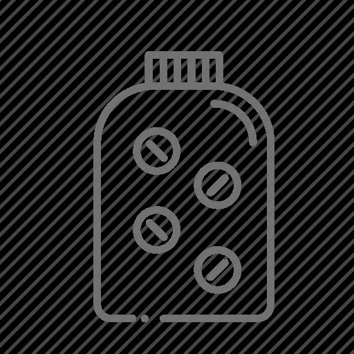chemistry, drugstore, pharmaceutical, pharmacist, pill bottle, pills, prescription icon