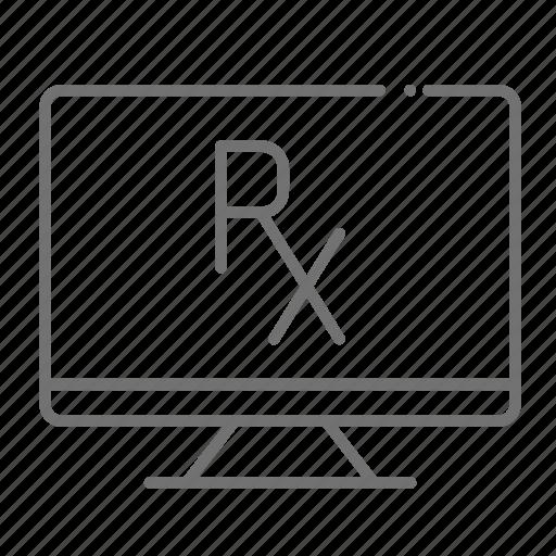 chemistry, desktop, drugstore, online pharmacy, pharmaceutical, pharmacist, prescription icon