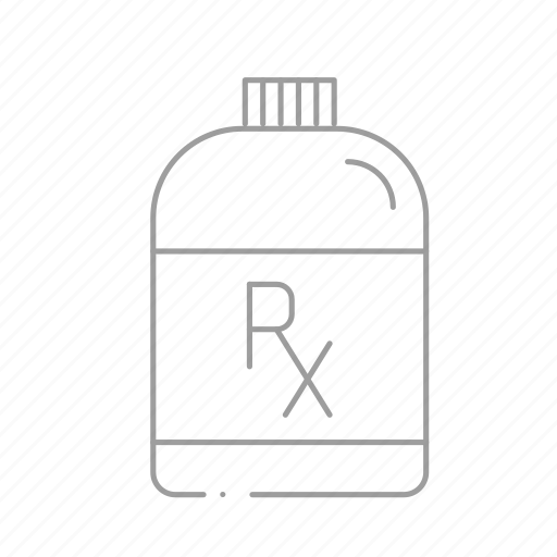 chemistry, drugstore, medicine bottle, pharmaceutical, pharmacist, pill bottle, prescription icon