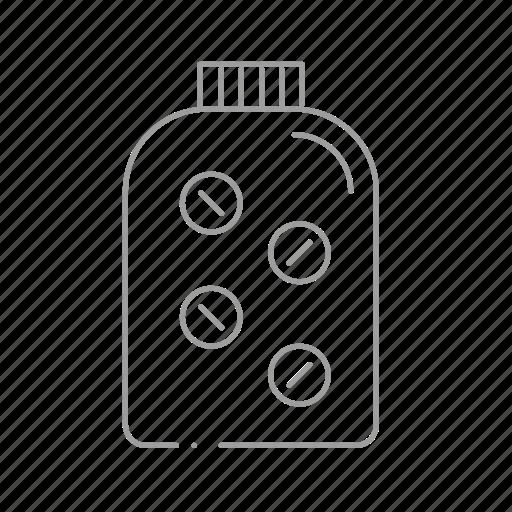 chemistry, drugstore, medication, pharmaceutical, pharmacist, pill bottle, prescription icon