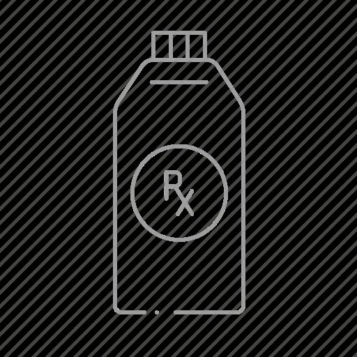 bottle, chemistry, drugstore, medicine, pharmaceutical, pharmacist, prescription icon
