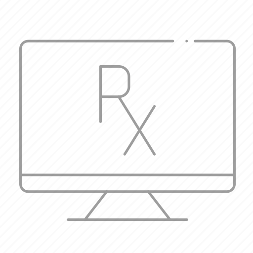 chemistry, computer, drugstore, online pharmacy, pharmaceutical, pharmacist, prescription icon