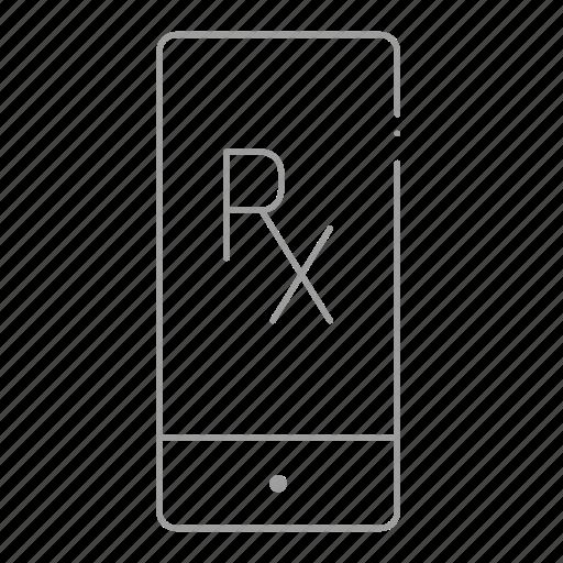 chemistry, drugstore, online pharmacy, pharmaceutical, pharmacist, phone, prescription icon