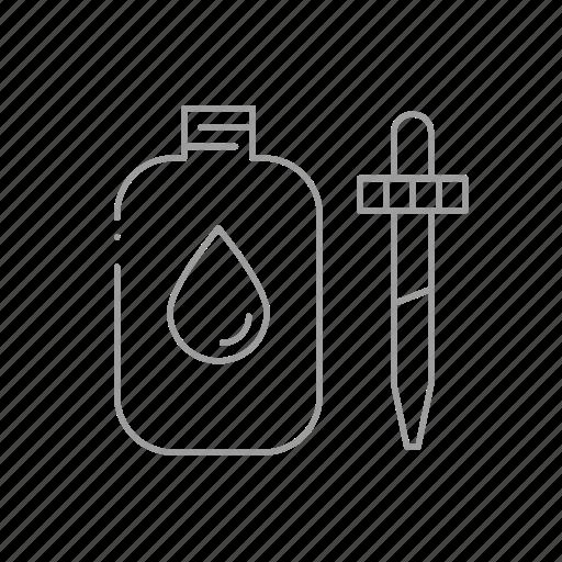 bottle, chemistry, drugstore, eye drops, pharmaceutical, pharmacist, prescription icon