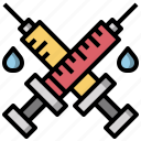 doctor, drugs, syringe, syringes, tools, utensils icon