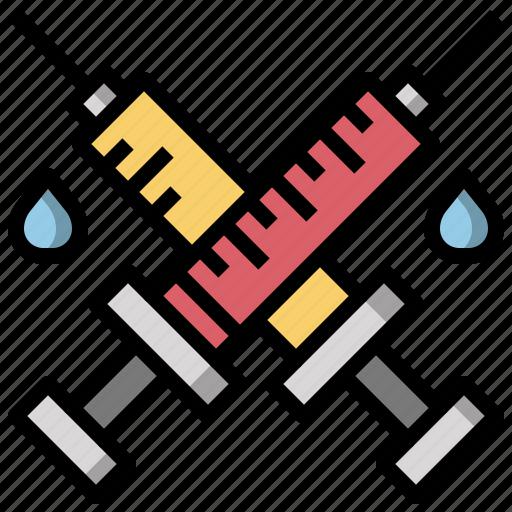 doctor, drugs, syringe, syringes, tools, utensils icon