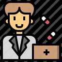 healthcare, hospital, man, medical, medicine, pharmacist, pharmacy icon
