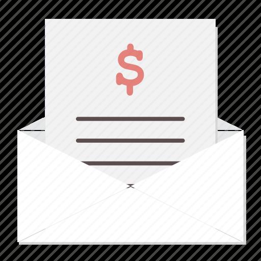 bill, envelope, invoice, mail, medical, prescription, rx icon