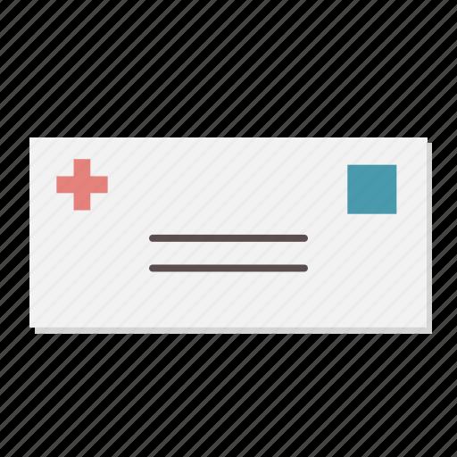 bill, envelope, invoice, mail, medical, prescription icon