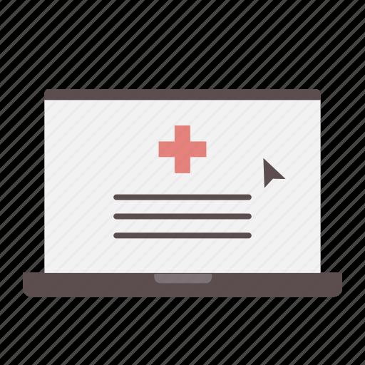 health insurance, laptop, medical, online, prescription, rx, website icon