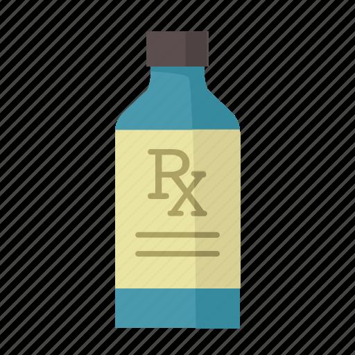 bottle, cough syrup, liquid medication, prescription, rx, stomach medicine icon