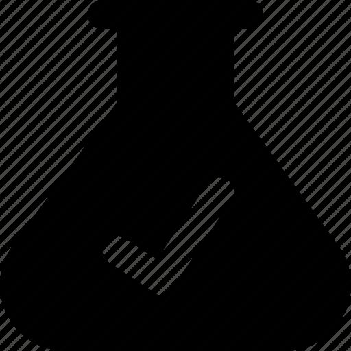 beaker, check icon
