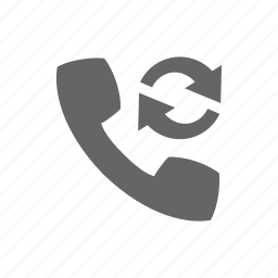 arrow, call, communication, phone, telephone, update icon