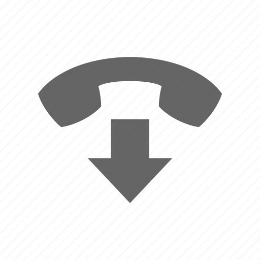 arrow, call, communication, drop, hang, phone, telephone icon
