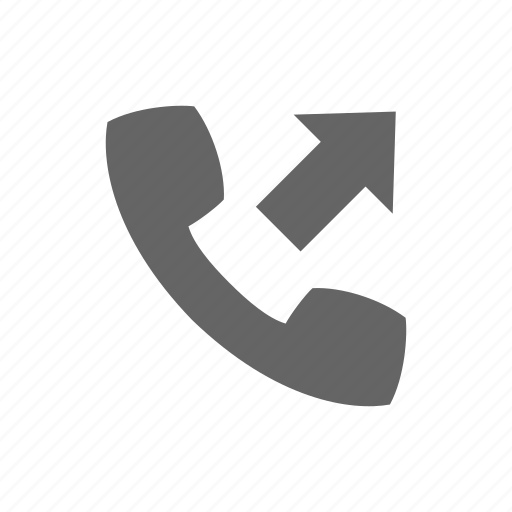 arrow, call, communication, phone, telephone icon