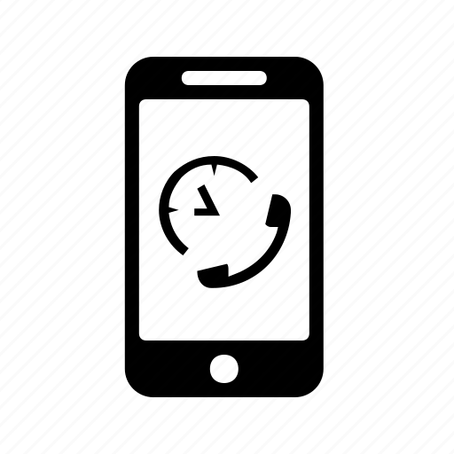 call, chatting, clock, mobile, time icon