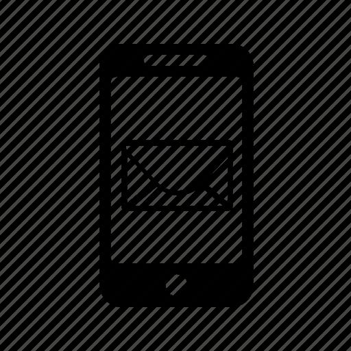 envelope, letter, mobile, phone icon