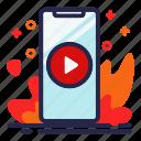 phone, play, smartphone, video