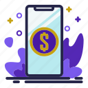 business, dollar, phone, smartphone