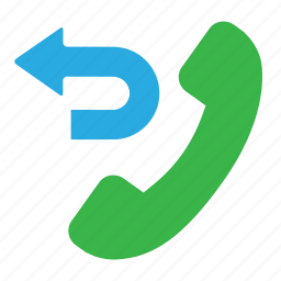 call back, missed call, phone me back, transfer call icon