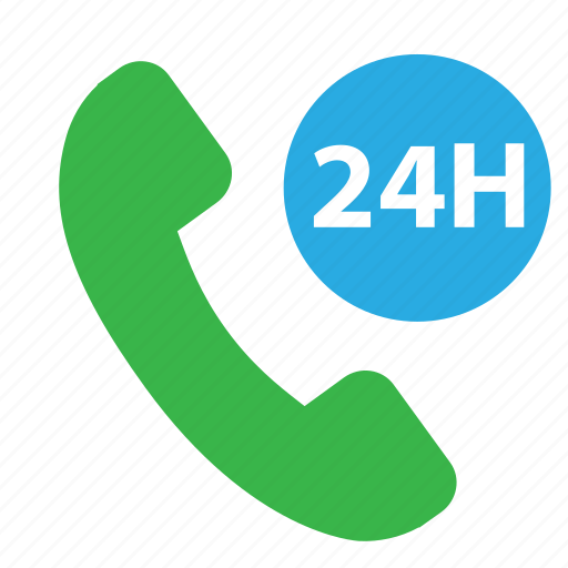 call, call 24 hours, phone, phone available icon