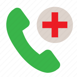 emergency call, help, hospital, medical call, phone icon