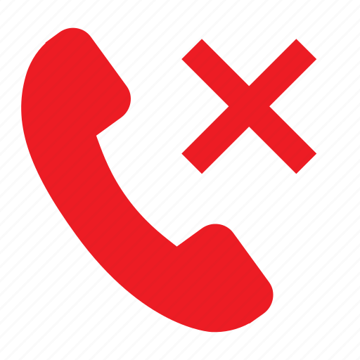 ban phones, decline call, phone cross, stop call icon