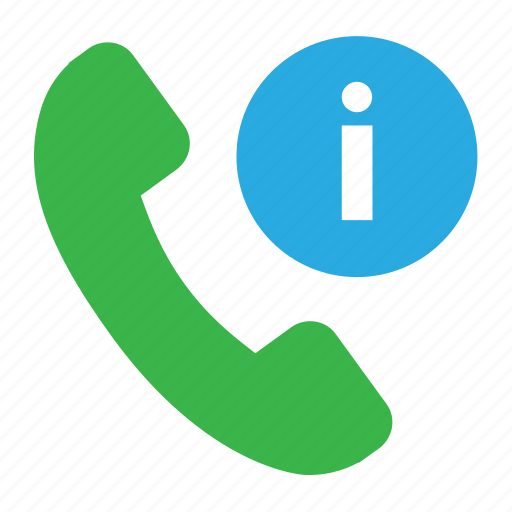 information, phone call, phone call information, service, support icon