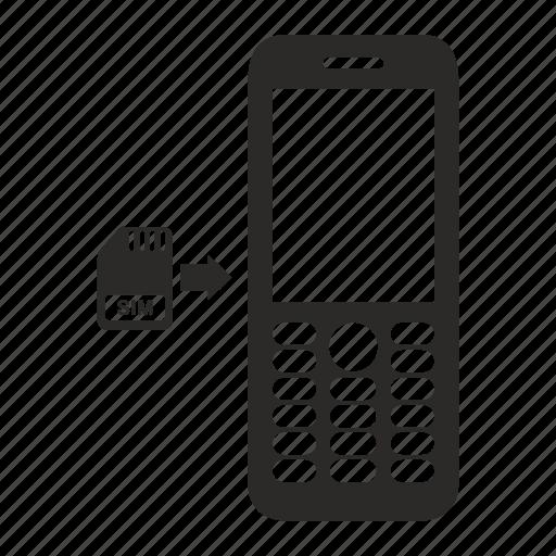 card, mobile, nokia, phone, sim, smartphone icon