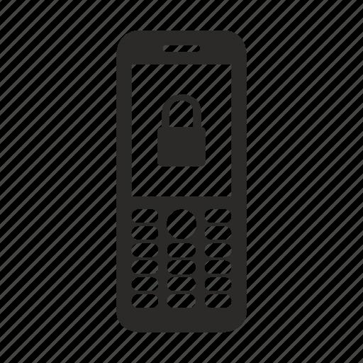 locked, mobile, nokia, phone, pin icon