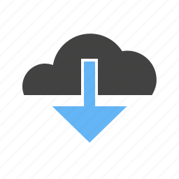 arrow, down, download, downloading, load, transfer, upload icon