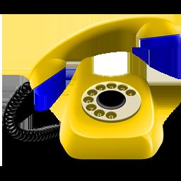phone, yellow icon