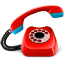 phone, red icon