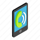 call, cellphone, communication, isometric, mobile, phone, telephone icon