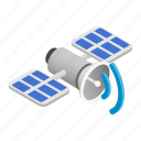 communication, icon global, isometric, satellite, science, space, telecommunication icon