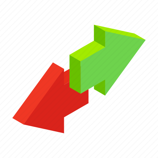 arrow, contact, incoming, isometric, outcoming, phone, reflection icon