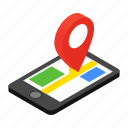 gps, location, map, mobile, phone, road, travel icon