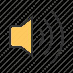 audio, loud, play, sound, speaker, volume, wave icon