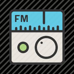 entertainment, fm, media, music, radio, station, tuner icon