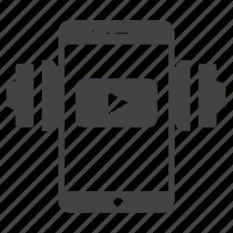 audio, iphone, listen, media, music, play, youtube icon