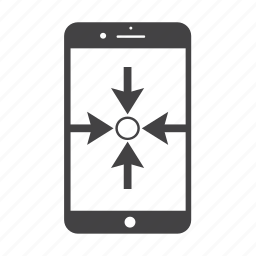 center, focus, goal, here, iphone, point, smart phone icon