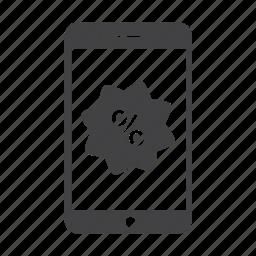 discount, iphone, iphone 6, on sale, percent, rabat, sale icon