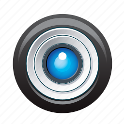 cam, camera, device, goal, lens, objective, photography icon