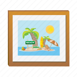 frame, landscape, photo, photography, picture icon