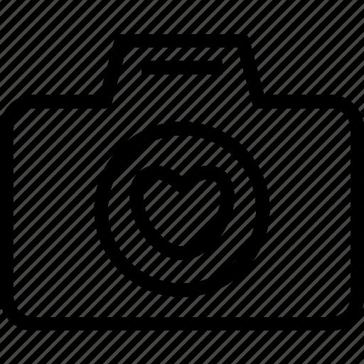 Camera Device Heart Photography Photoshoot Icon